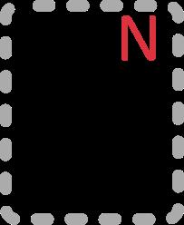 Japanisches Katakana N; ン: N;